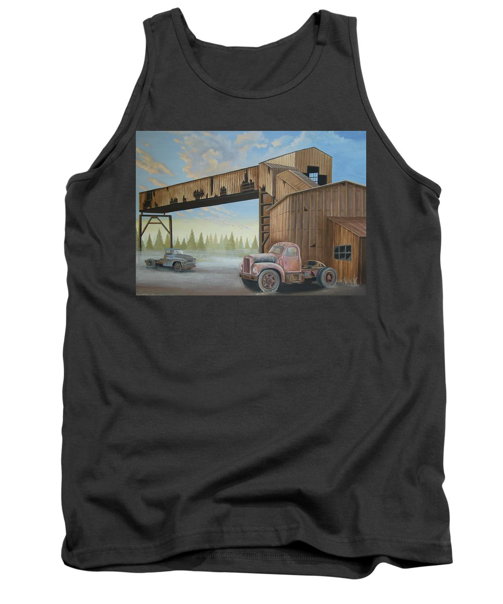Old Truck Tank Top featuring the painting Abandoned Mine by Stuart Swartz