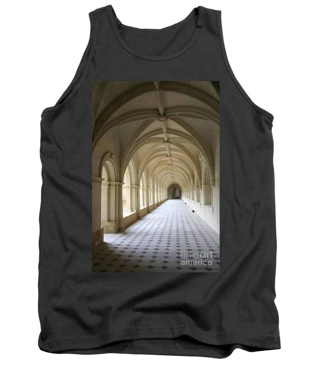 Cloister Tank Top featuring the photograph Abbaye De Frontevraud Cross Coat by Christiane Schulze Art And Photography