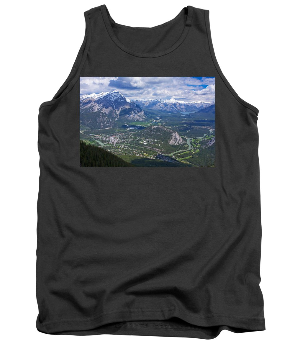 Banff Tank Top featuring the photograph Above Banff by Stuart Litoff