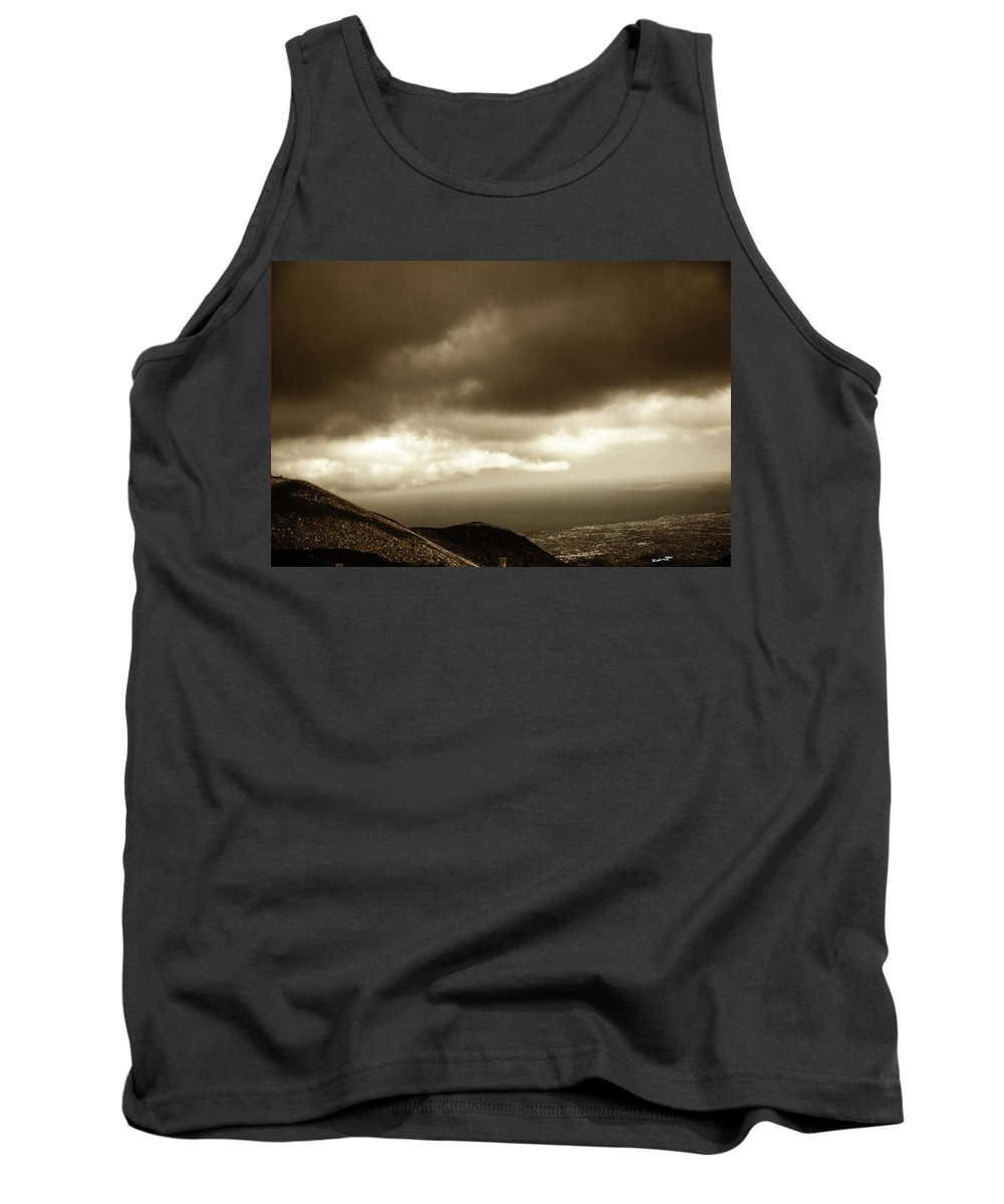 Mountain Tank Top featuring the photograph Above - Sicily by Madeline Ellis