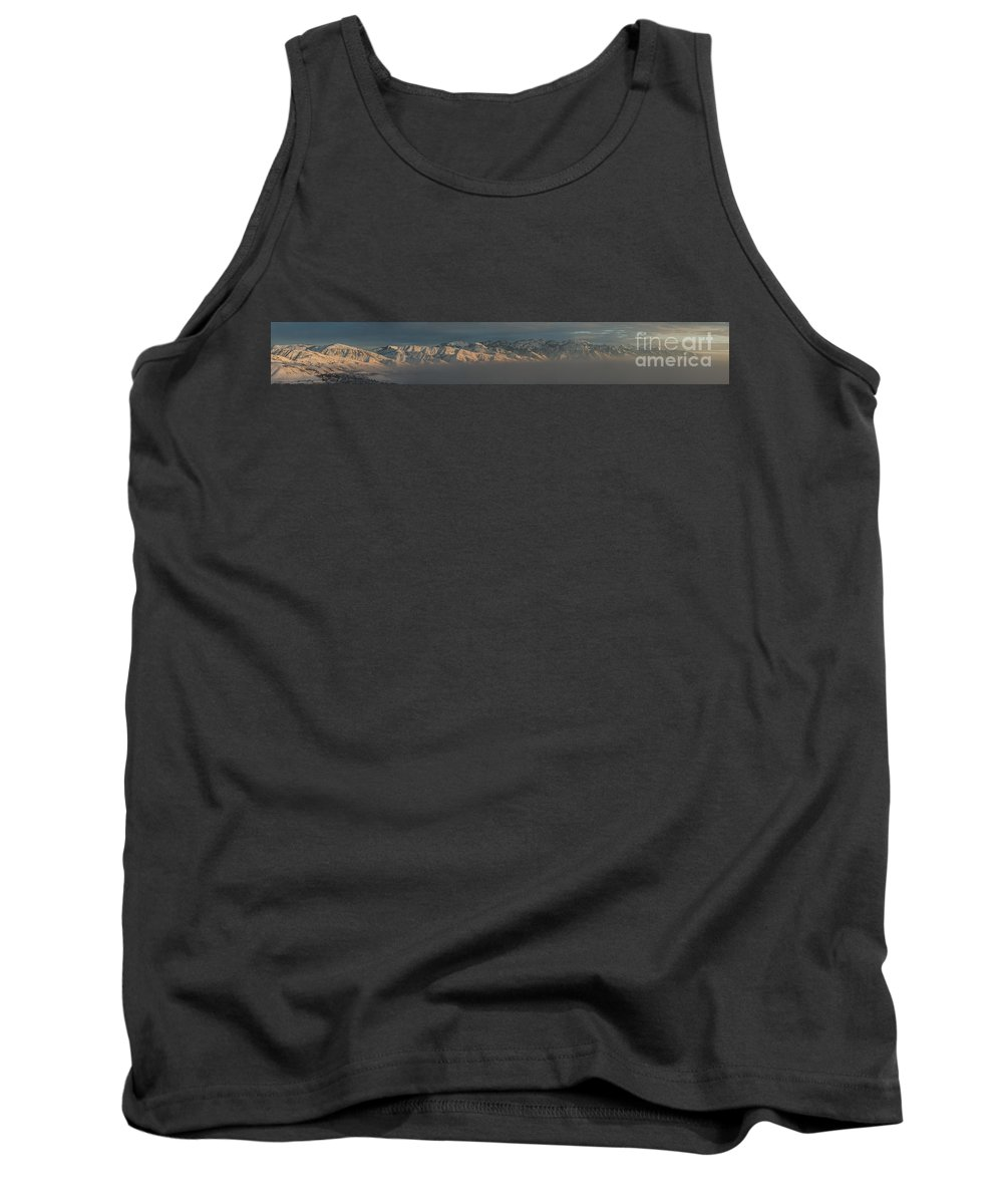 Landscape Tank Top featuring the photograph Above The Smog Panorama by Michael Ver Sprill