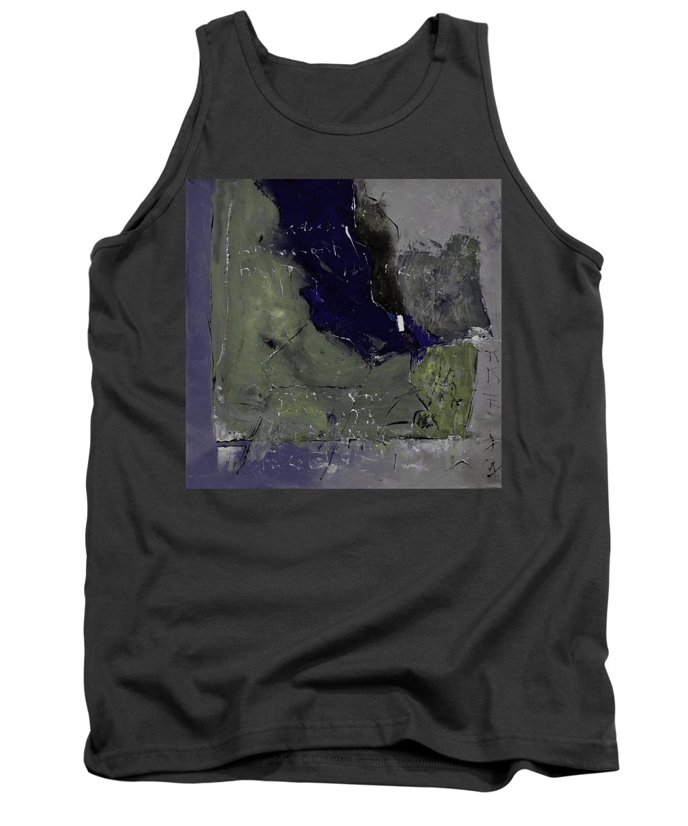 Abstract Tank Top featuring the painting Abstract 88457412 by Pol Ledent
