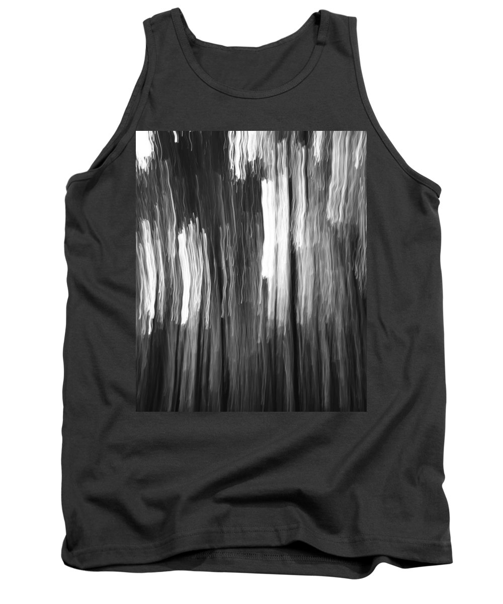 Abstract Black And White Composition Tank Top featuring the photograph Abstract Black And White Composition by Dan Sproul