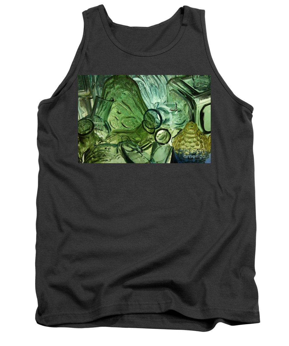 Abstract Tank Top featuring the photograph Abstract In Green by Crystal Nederman
