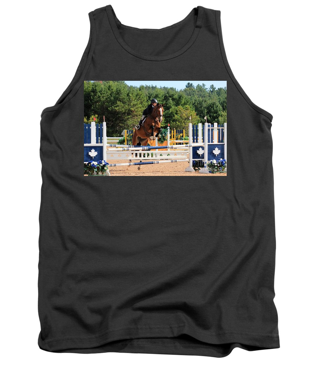 Horse Tank Top featuring the photograph Ac-medal19 by Janice Byer