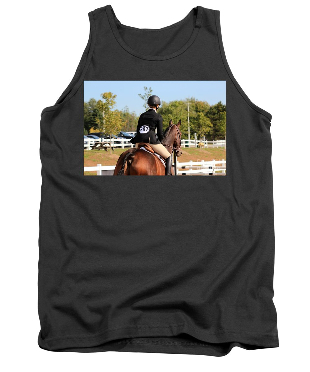Horse Tank Top featuring the photograph Ac-medal24 by Janice Byer
