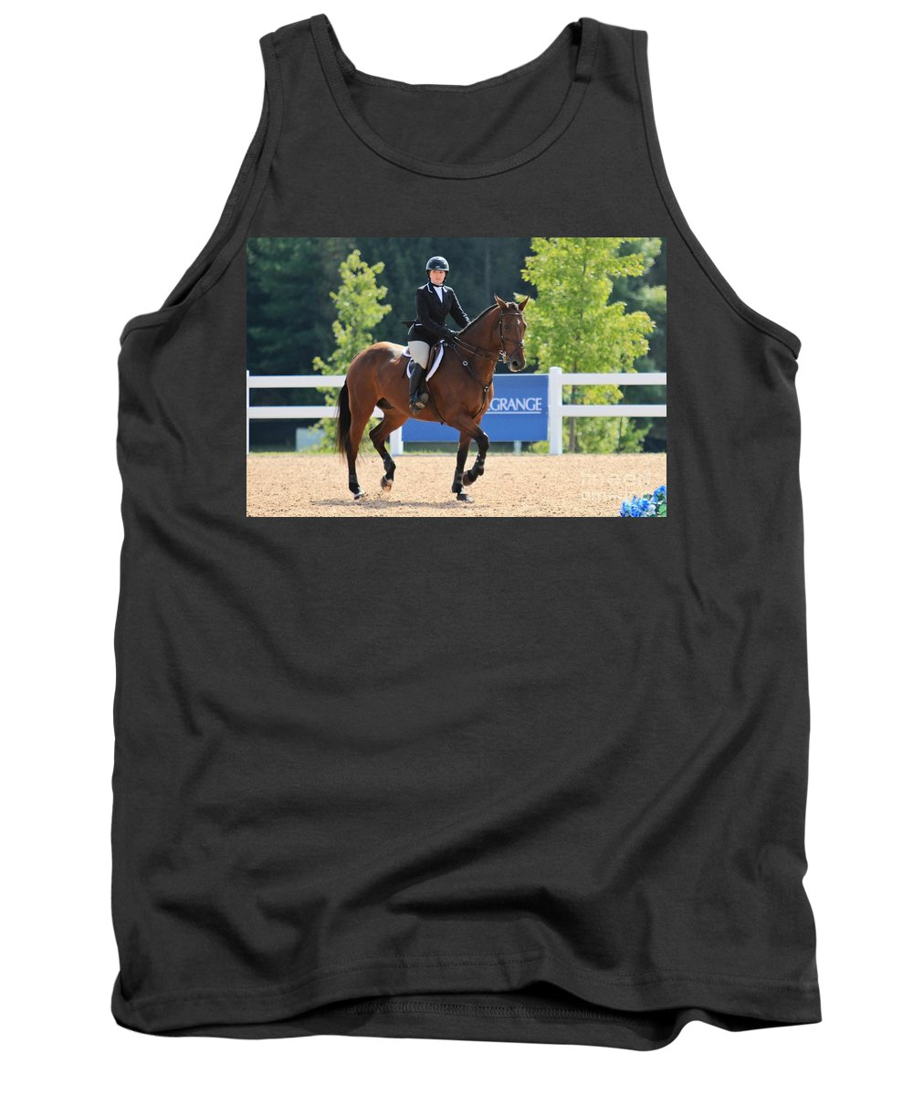 Horse Tank Top featuring the photograph Ac-medal7 by Janice Byer