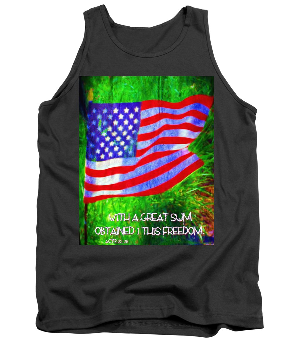 Jesus Tank Top featuring the digital art Acts 22 28 by Michelle Greene Wheeler