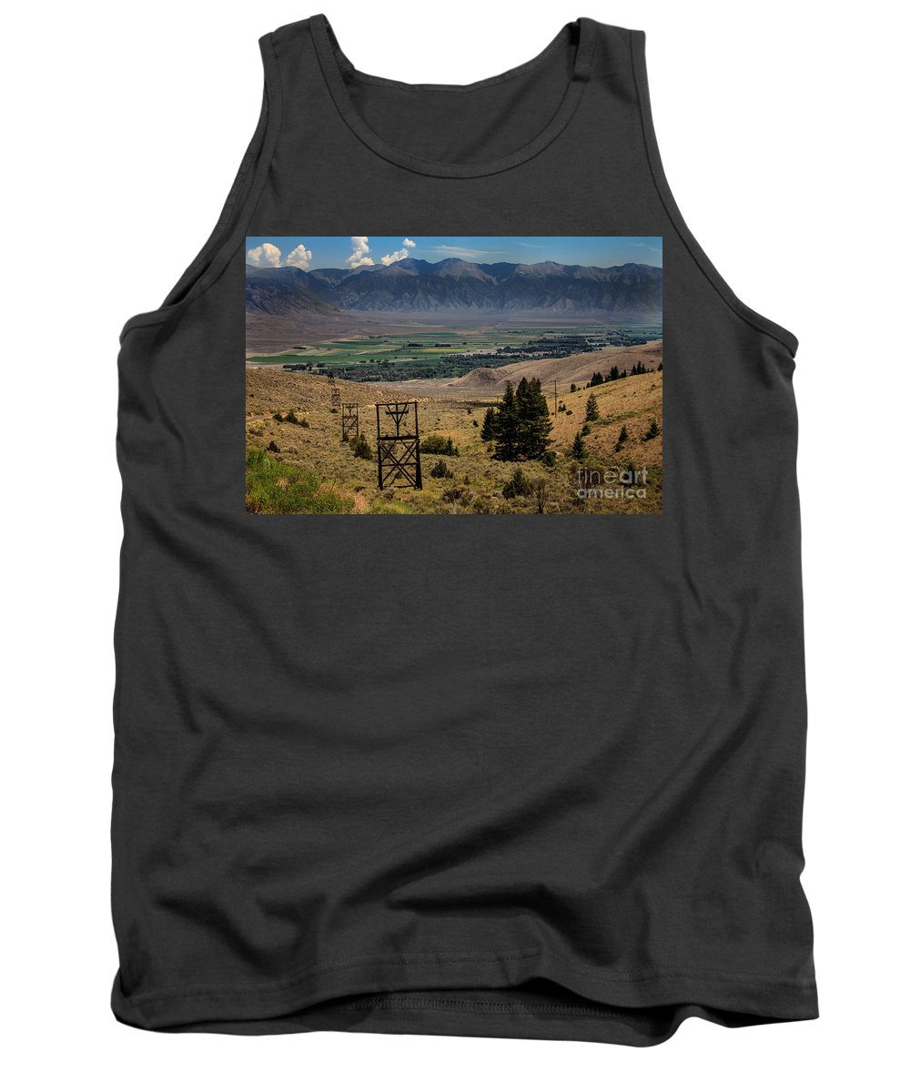 Tramway Tank Top featuring the photograph Aerial Tramway Towers by Robert Bales