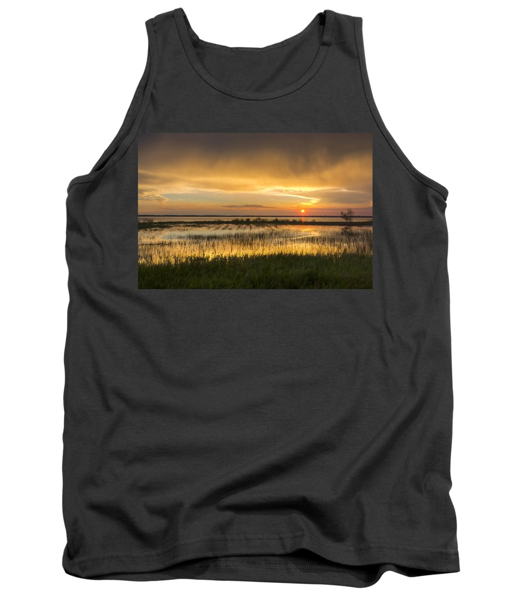 Clouds Tank Top featuring the photograph After The Rain by Debra and Dave Vanderlaan