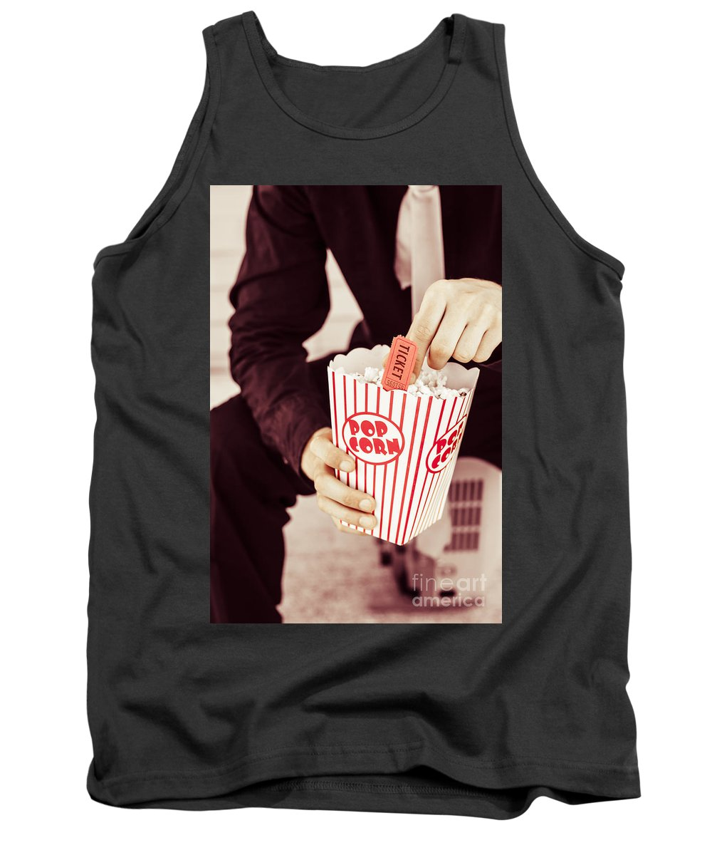 Retro Tank Top featuring the photograph Age Of The Classic Movie by Jorgo Photography - Wall Art Gallery