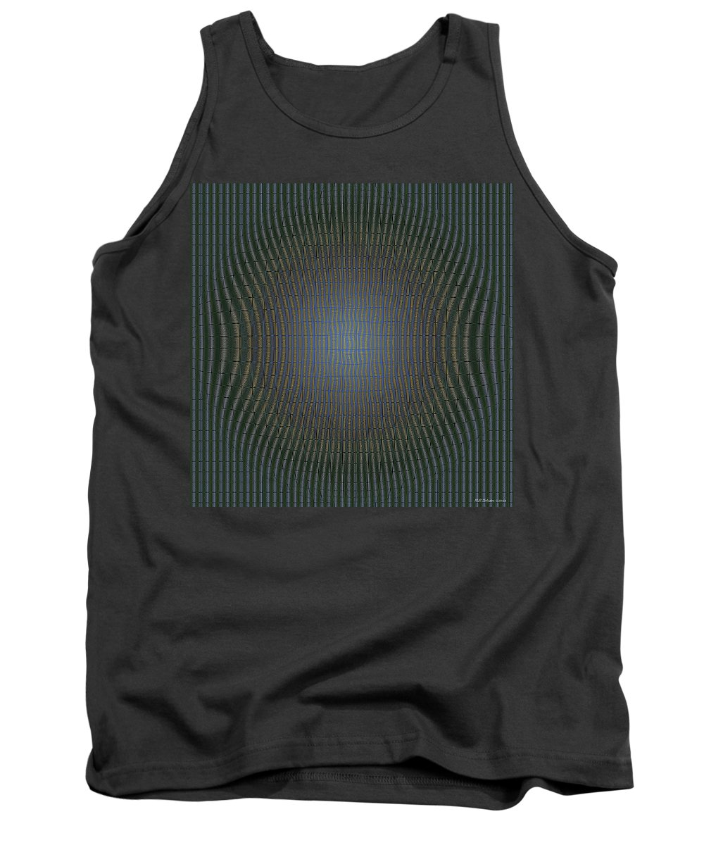 Op Art Tank Top featuring the digital art Agressive by WB Johnston