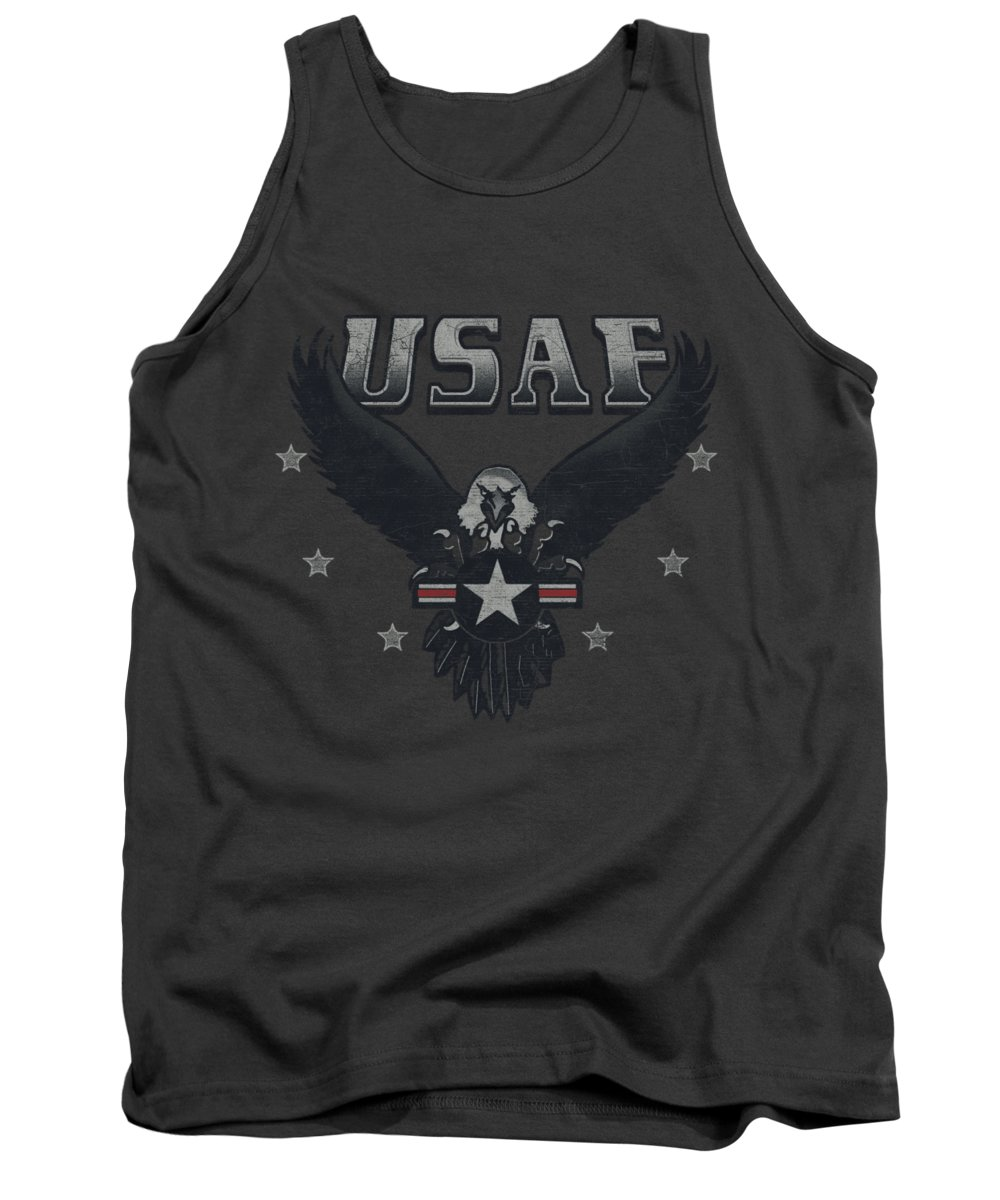 Air Force Tank Top featuring the digital art Air Force - Incoming by Brand A