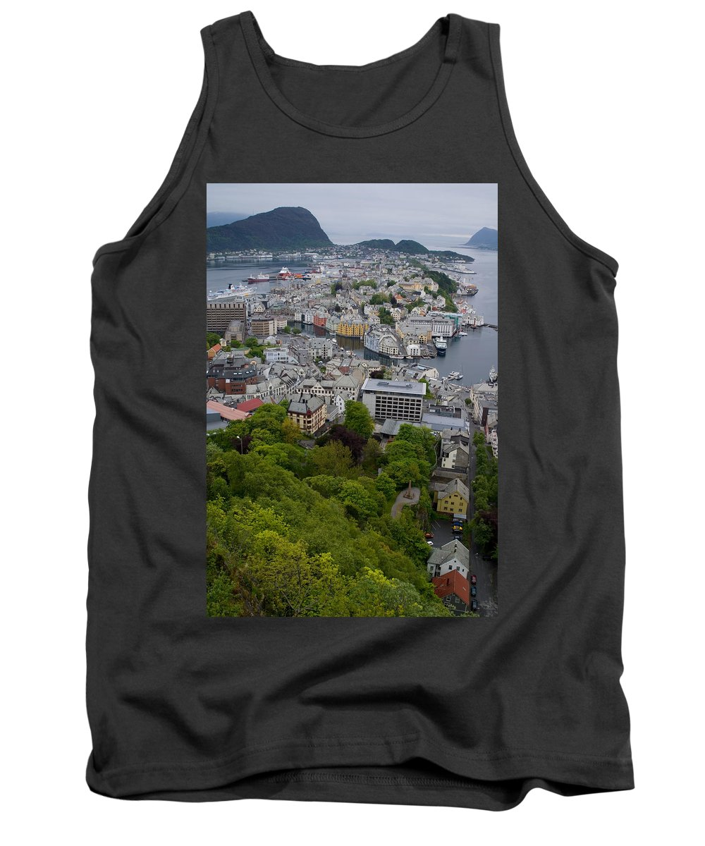 Alesund Tank Top featuring the photograph Alesund Norway by Benjamin Reed