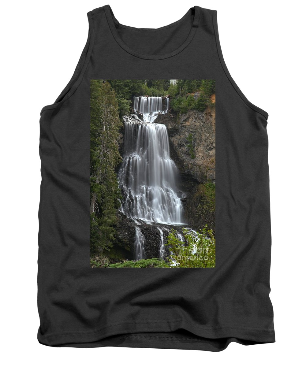 Alexander Falls Tank Top featuring the photograph Alexander Falls - Whistler British Columbia by Adam Jewell