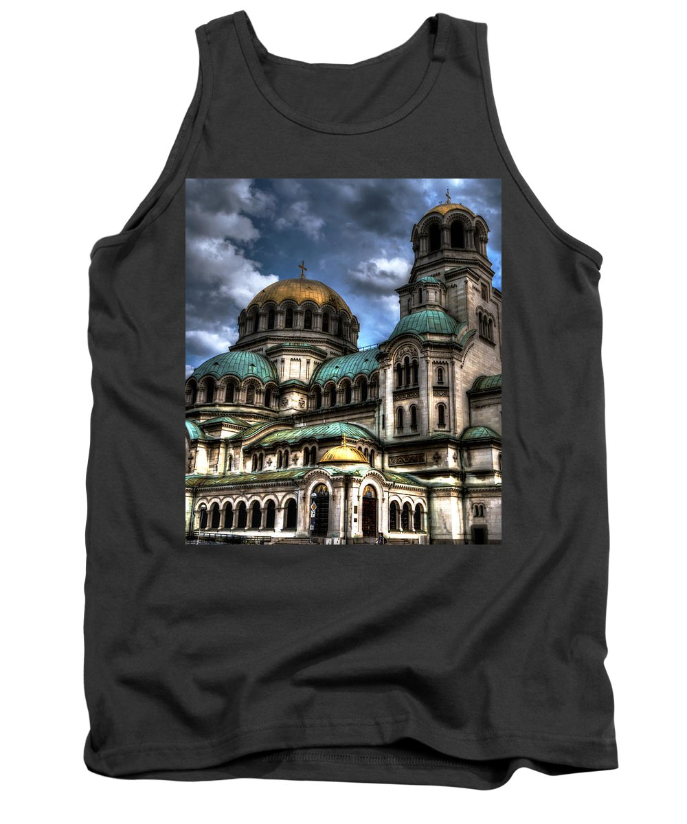 Orthodox Tank Top featuring the photograph Alexander Nevski Cathedral by Velizar Gordeev
