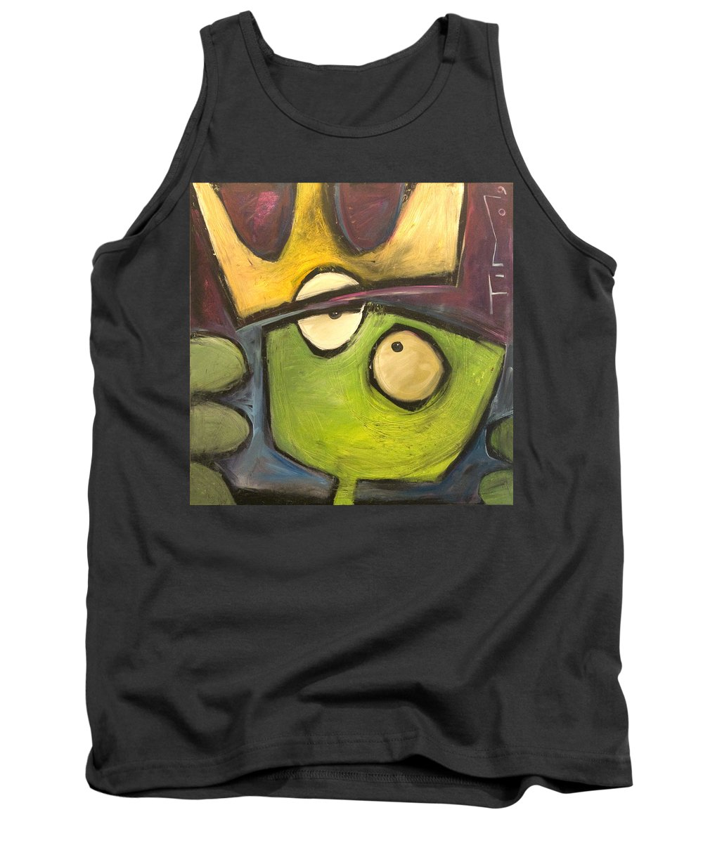 Alien Tank Top featuring the painting Alien King by Tim Nyberg