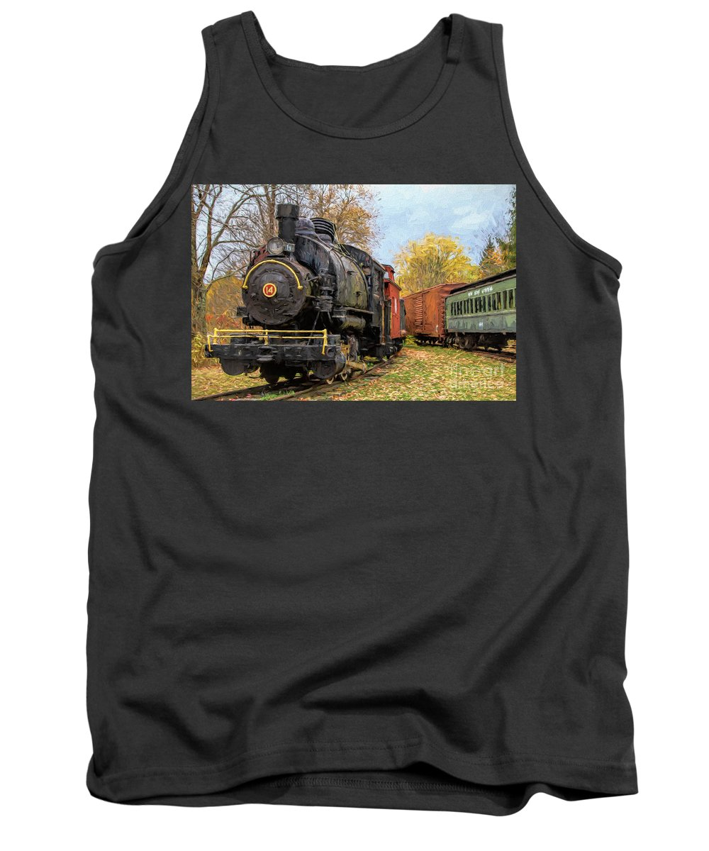 Trains Tank Top featuring the photograph All Aboard by Deborah Benoit
