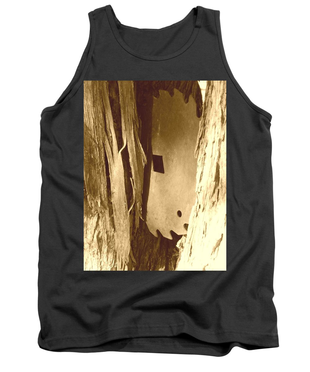 Country Tank Top featuring the photograph All Caught Up Sepia by Desiree Holloway