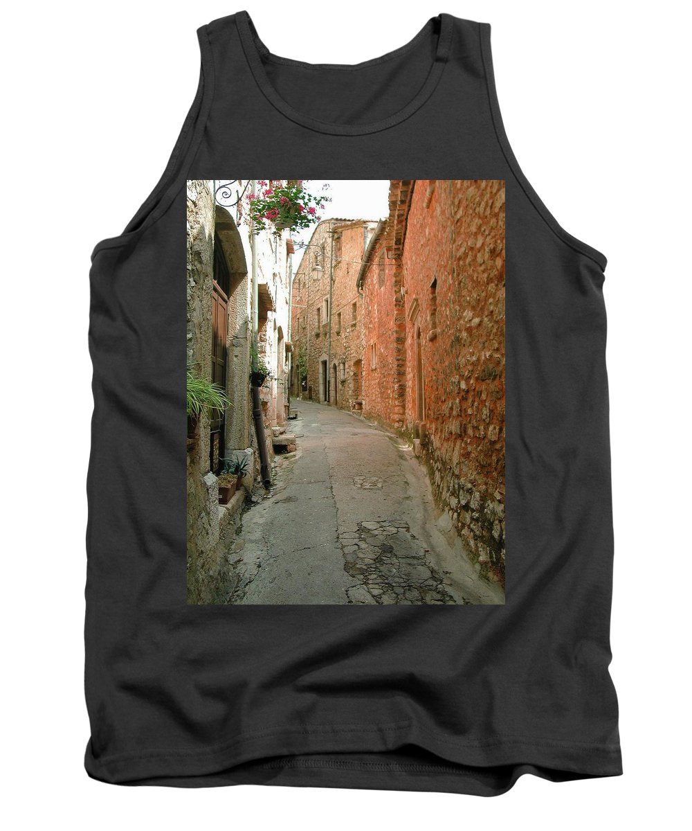 Alley Provence France Tourrette-sur-loup Tank Top featuring the photograph Alley In Tourrette-sur-loup by Susie Rieple