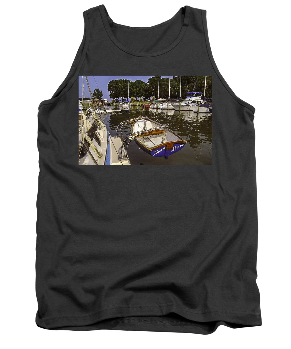 Palm Tank Top featuring the digital art Almost Paradise by Michael Thomas