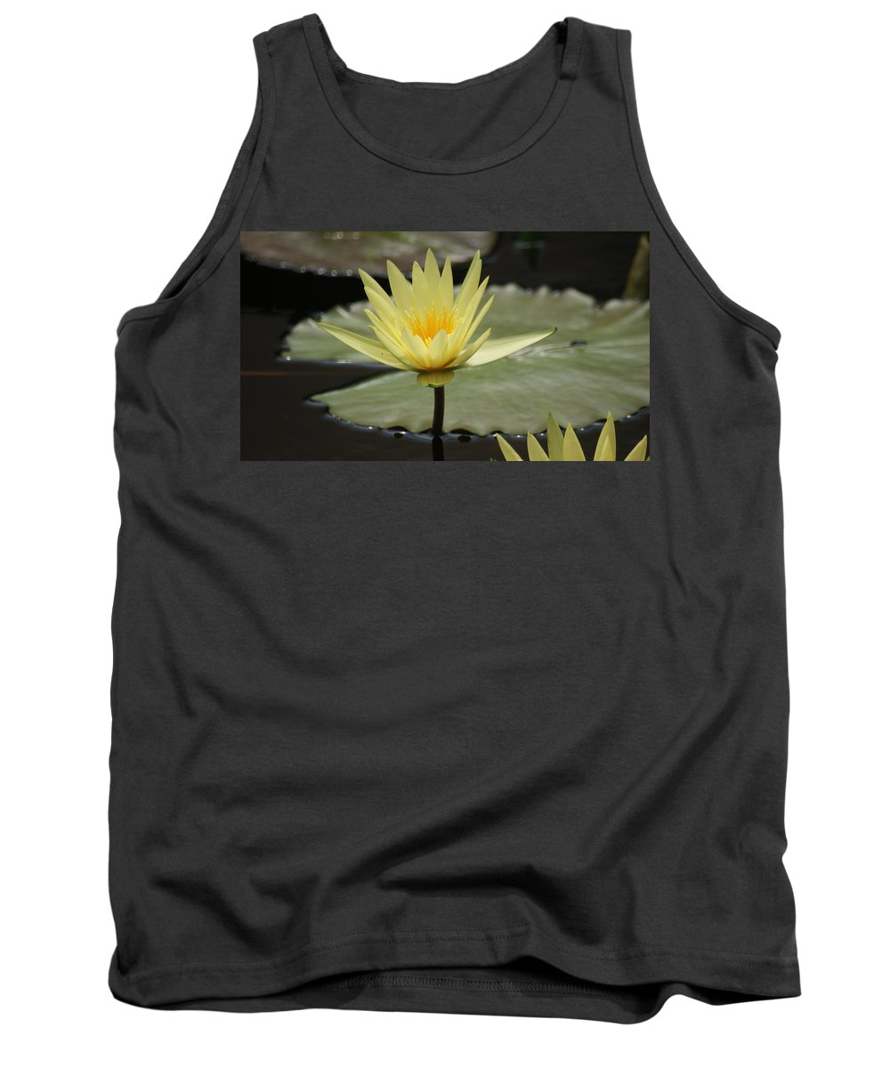 Water Lily Tank Top featuring the photograph Alone by Rob Luzier