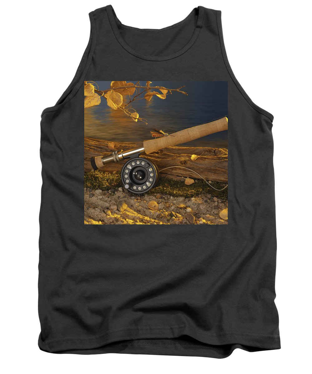 Fishing Tank Top featuring the photograph Along The Stream by Jerry McElroy