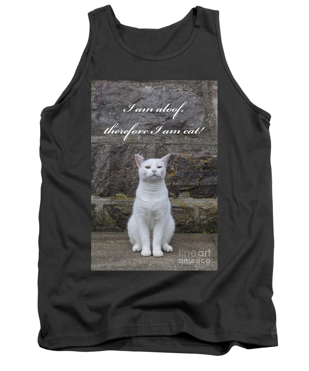 Domestic Tank Top featuring the photograph Aloof Cat by Diane Macdonald