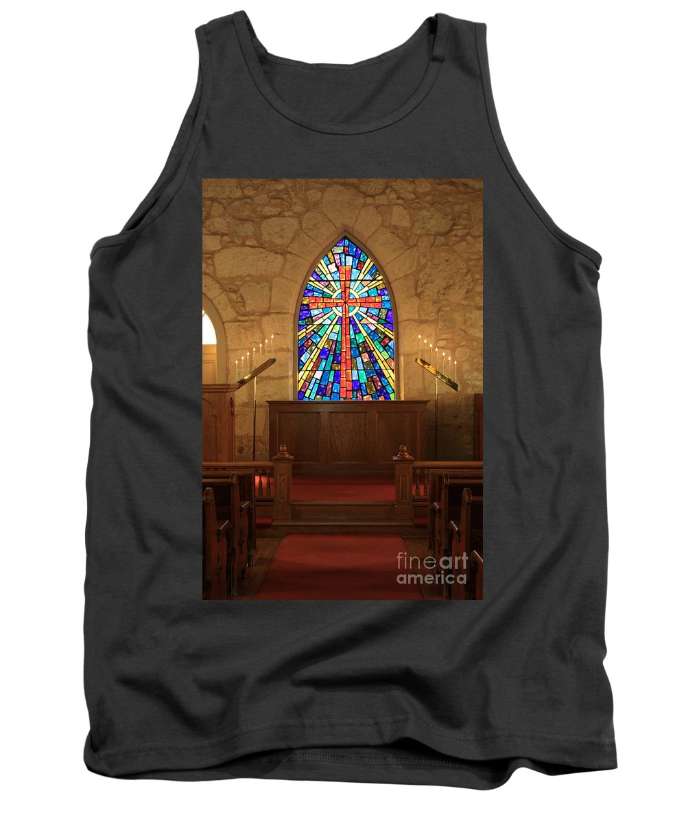 The Little Church Tank Top featuring the photograph Altar At The Little Church In La Villita by Carol Groenen