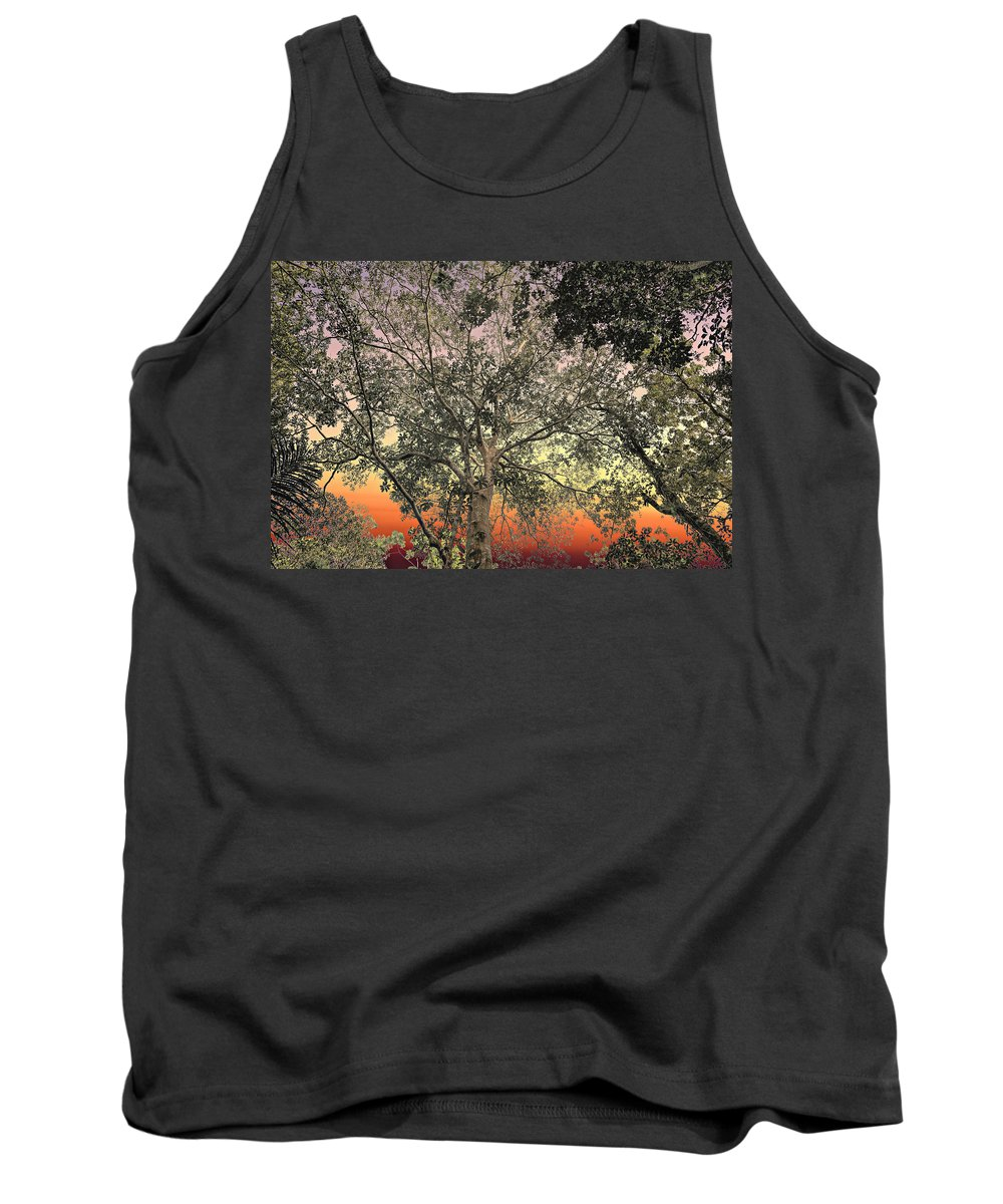 Backgrounds Tank Top featuring the photograph Glowing Sky by Maria Coulson