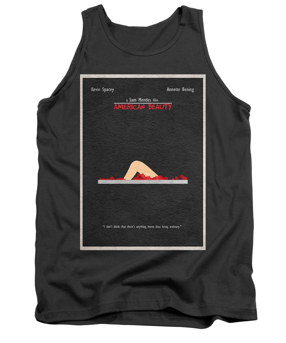 American Beauty Tank Top featuring the digital art American Beauty by Inspirowl Design
