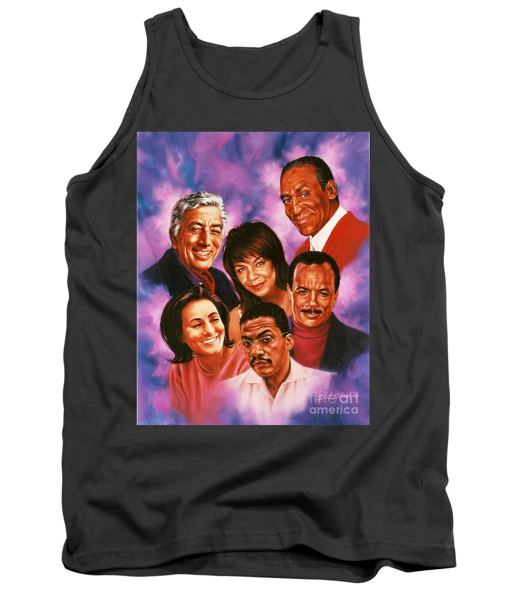 Music Tank Top featuring the painting American Music All Stars by Dick Bobnick