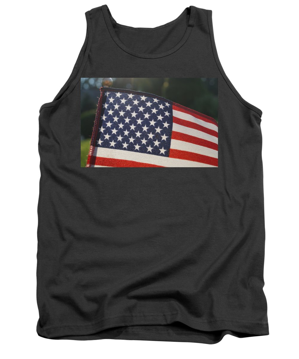 July 4th Tank Top featuring the photograph American Pride by Andrea Rea