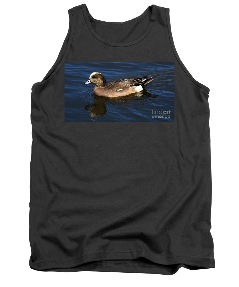 Duck Tank Top featuring the photograph American Widgeon Drake 1 by Bob Christopher