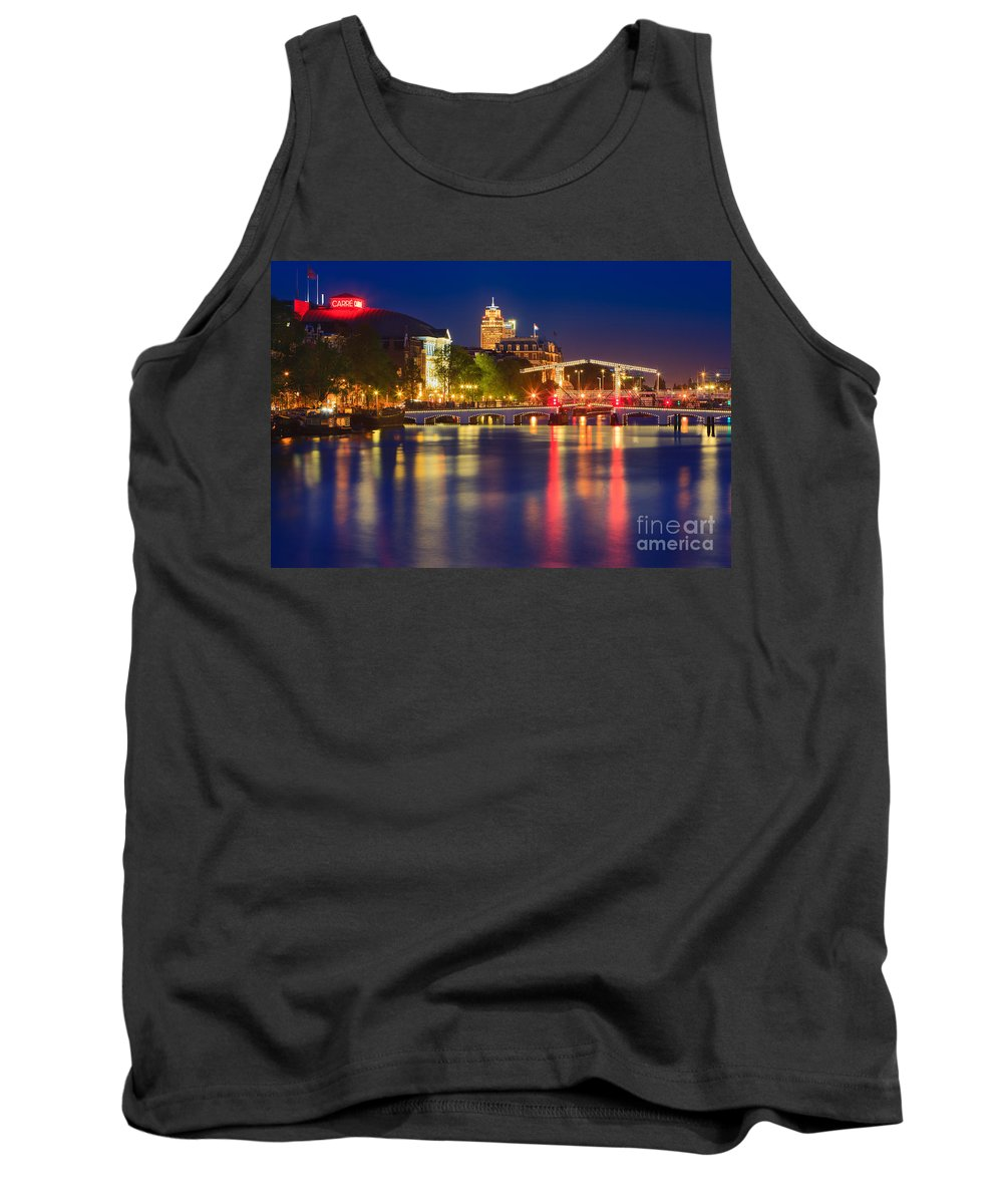 Europe Tank Top featuring the photograph An Evening In Amsterdam by Henk Meijer Photography