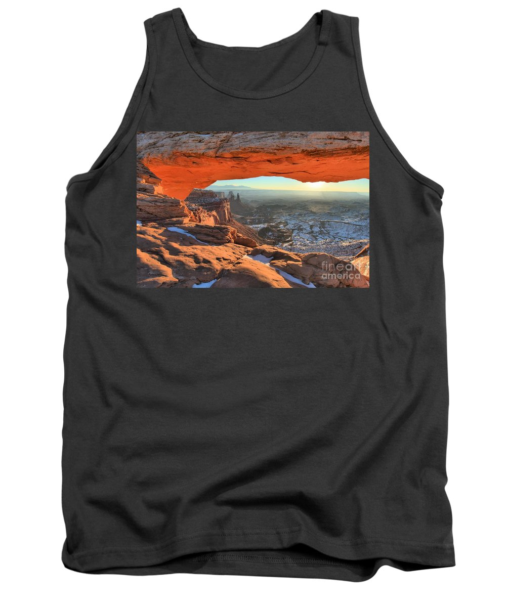 Mesa Arch Sunrise Tank Top featuring the photograph Ancient Orange by Adam Jewell