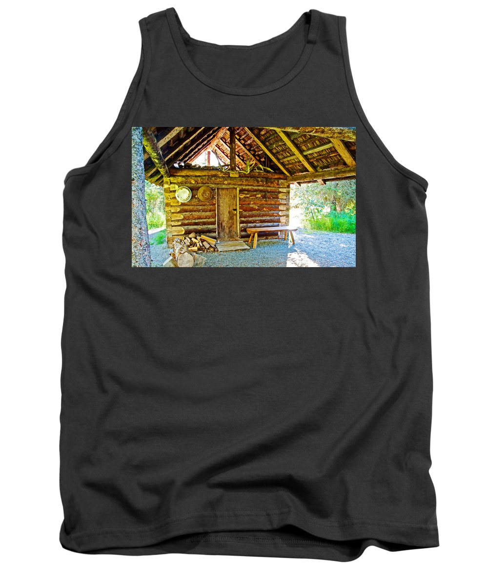 Andrew Berg's Homestead Cabin At Kenai National Wildlife Refuge In Soldotna Tank Top featuring the photograph Andrew Berg's Homestead Cabin At Kenai National Wildlife Refuge In Soldotna-alaska by Ruth Hager