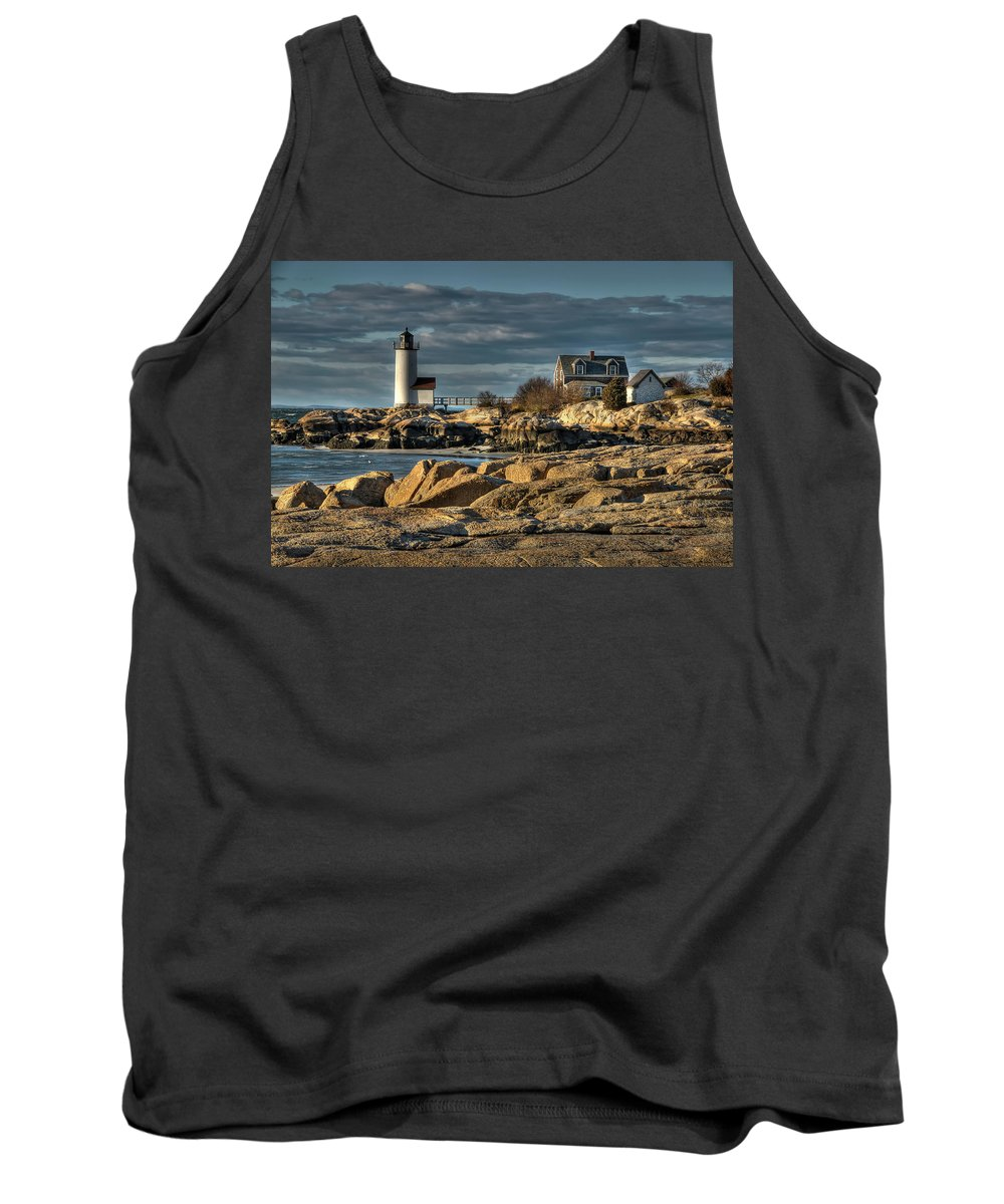 Annisquam Lighthouse Tank Top featuring the photograph Annisquam Lighthouse by Liz Mackney