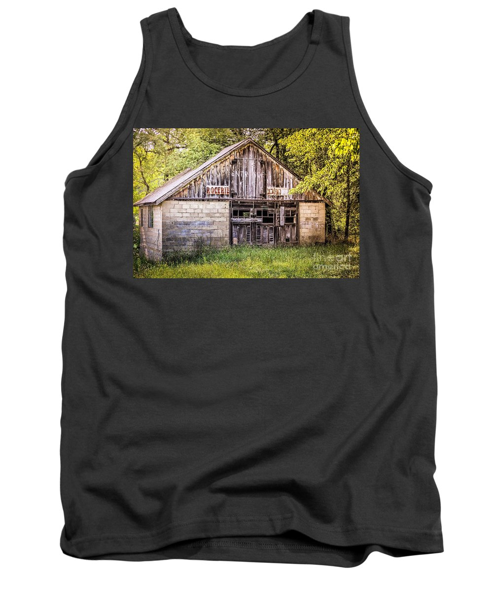 Vintage Landscape Tank Top featuring the photograph Antique Grocery Store by Peggy Franz
