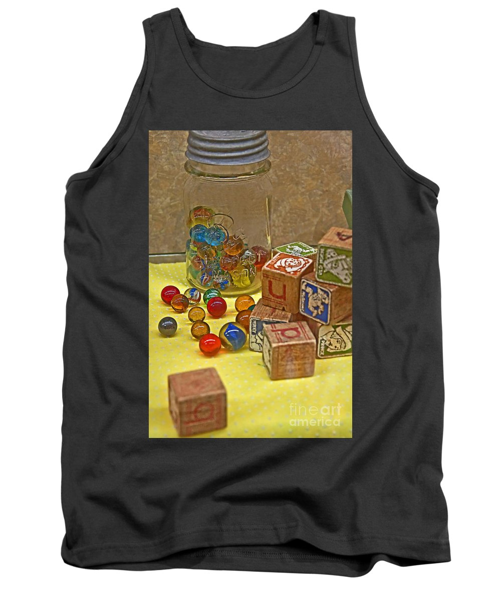 Aged Tank Top featuring the photograph Antique Toys by Valerie Garner