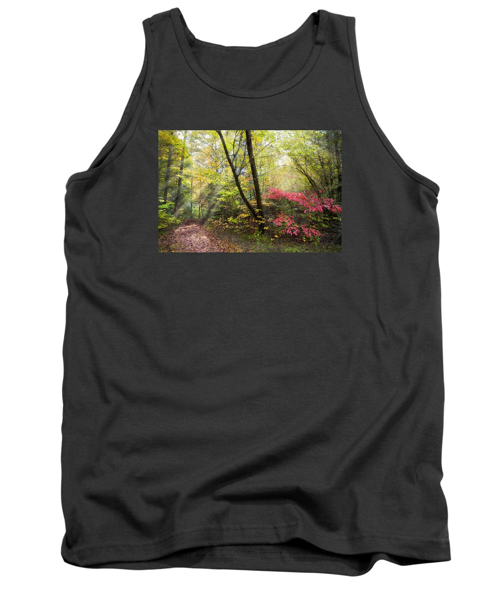 Appalachia Tank Top featuring the photograph Appalachian Mountain Trail by Debra and Dave Vanderlaan