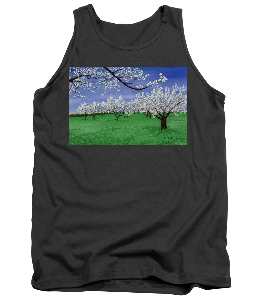 Apple Blossoms Tank Top featuring the pastel Apple Blossoms by George Burr