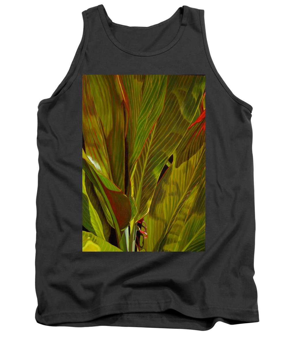 Plant Tank Top featuring the painting April by Thu Nguyen