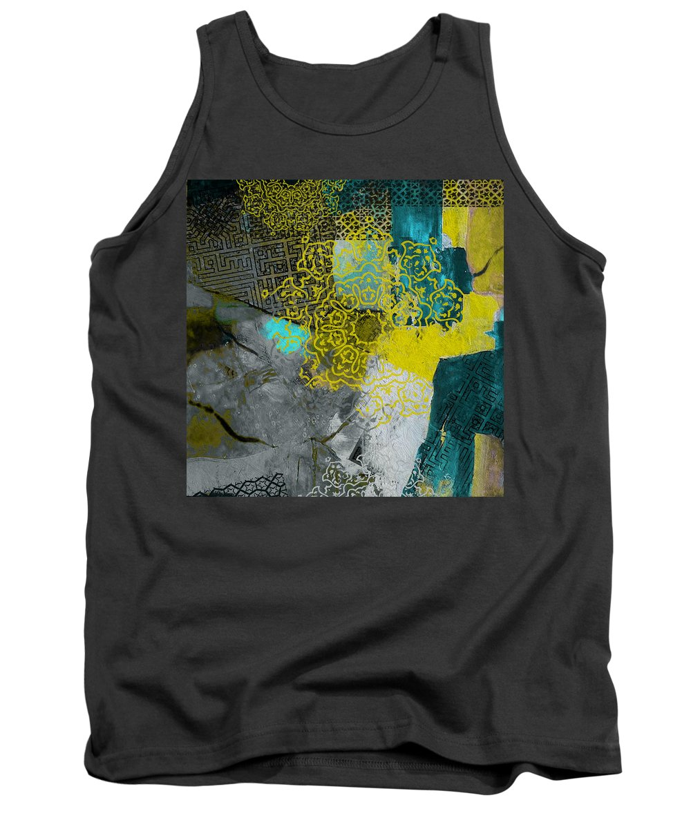 Dubai Expo 2020 Tank Top featuring the painting Arabic Motif 4b by Corporate Art Task Force