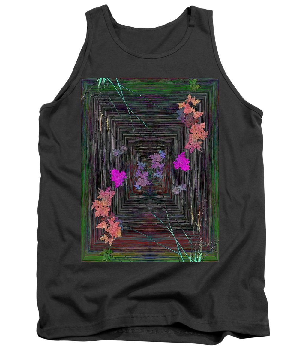Tree Tank Top featuring the digital art Arbor Autumn Harmony 6 by Tim Allen