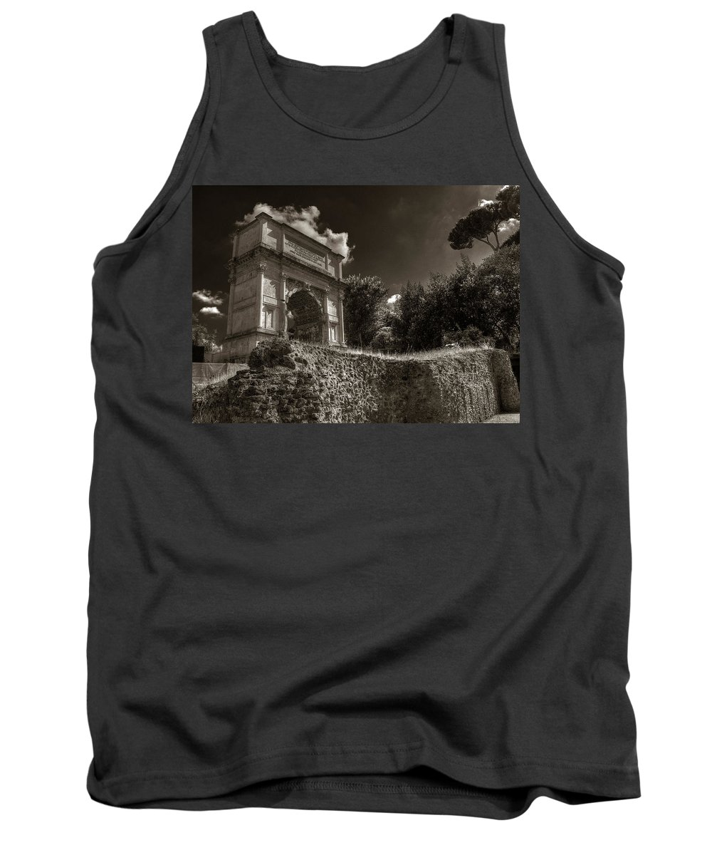Arch Of Titus Tank Top featuring the photograph Arch Of Titus by Michael Kirk