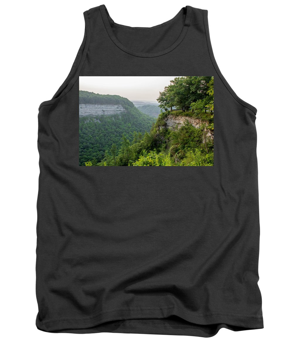 Genesee River Tank Top featuring the photograph Archery Field Overlook by Guy Whiteley