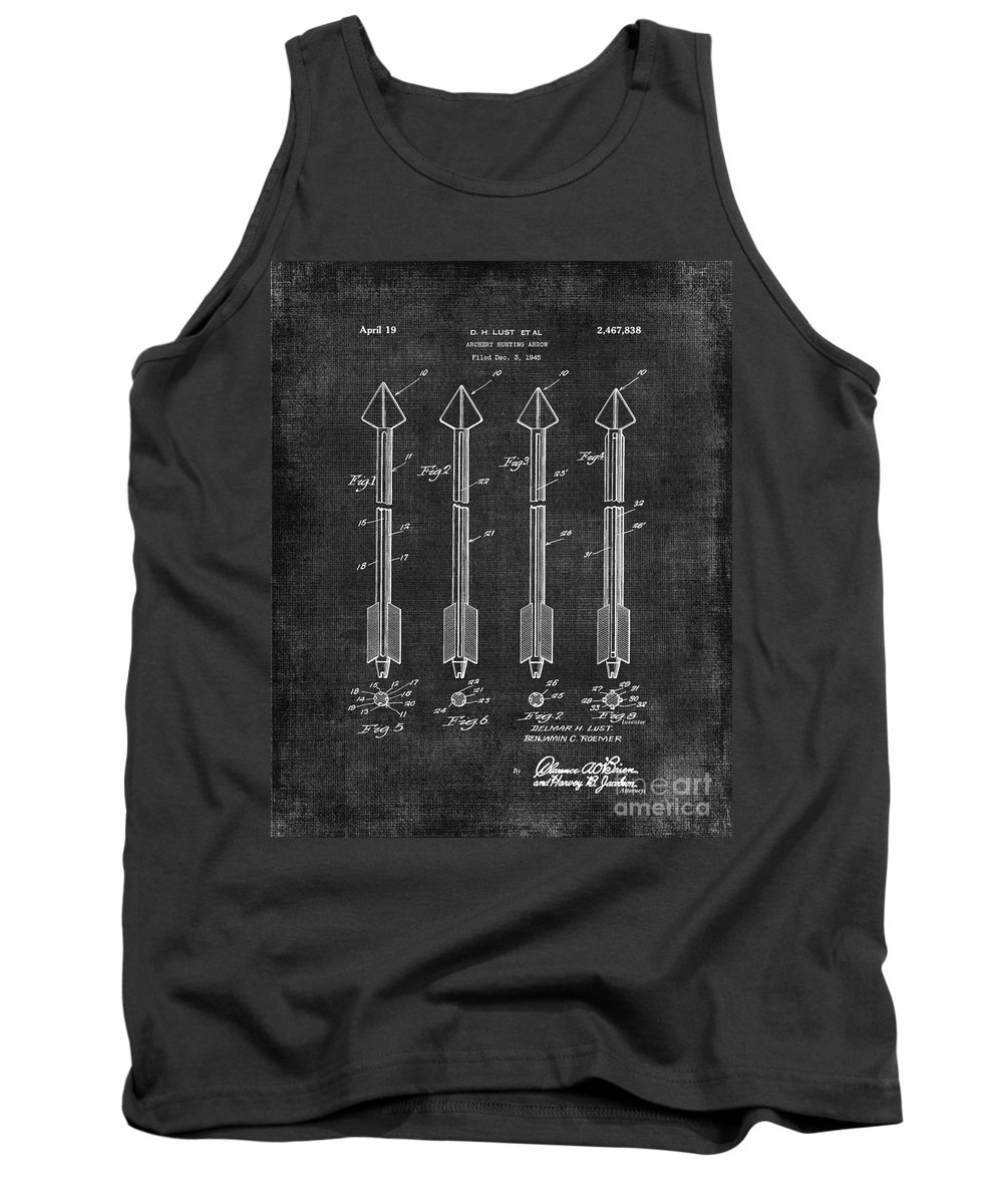 Arrows Tank Top featuring the digital art Archery Hunting Arrows Patent by Voros Edit