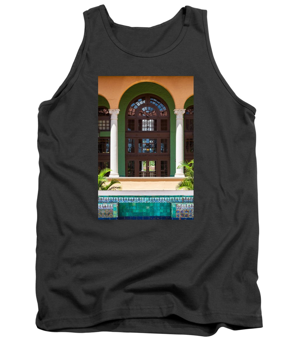 Arched Doorways Tank Top featuring the photograph Arches And Doors At The Biltmore by Ed Gleichman