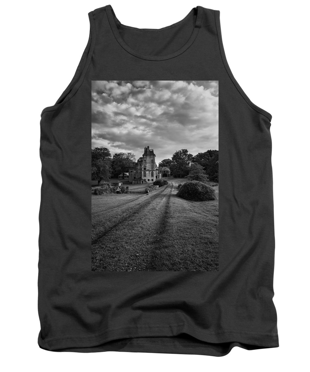 Byzantine Tank Top featuring the photograph Architectural Treasure Bw by Susan Candelario